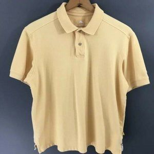 Tommy Bahama Mens Yellow Pique Polo Shirt, Large L